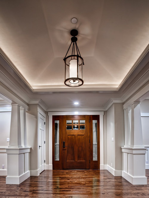 Foyer Ideas Craftsman : Large arts and crafts foyer design ideas renovations photos