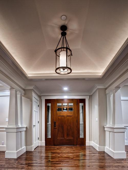 Foyer Ideas Craftsman : Large arts and crafts foyer design ideas renovations photos