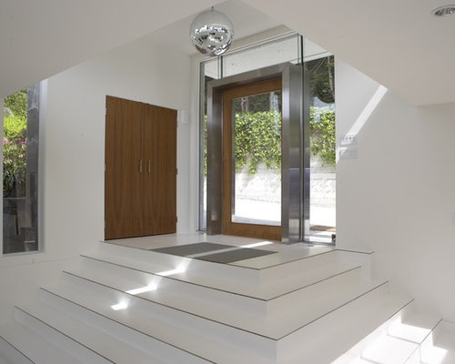 Foyer Minimalist Review : Stainless steel frame home design ideas pictures remodel