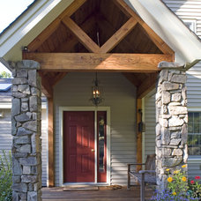 Traditional Entry by Habitat Post & Beam, Inc.