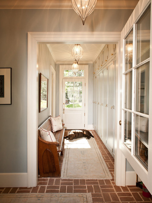 Foyer Entry Example : Vintage pew bench houzz