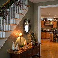 Traditional Entry by Adams Interior Design