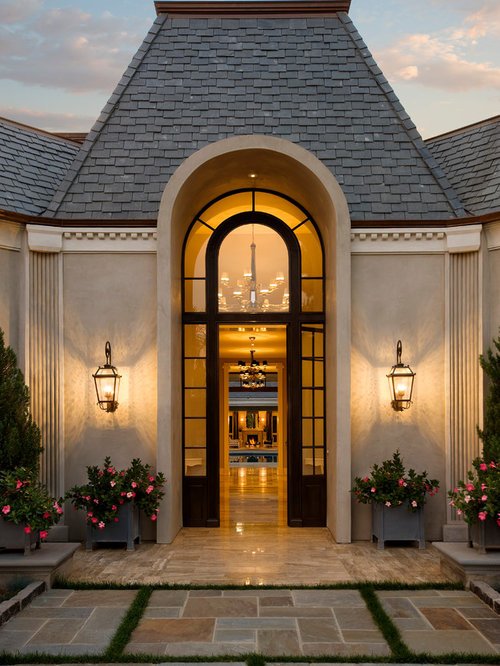 House entrance houzz for Classic house fronts