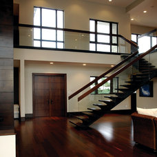 Contemporary Entry by Barron Development Corp.