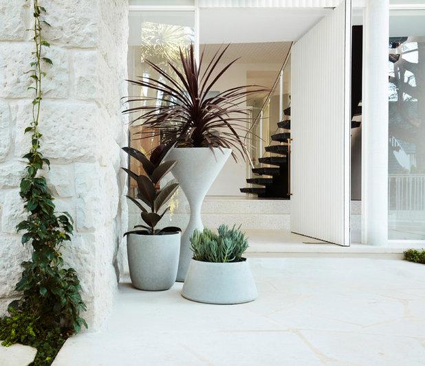 Modern Entrance by Luigi Rosselli Architects