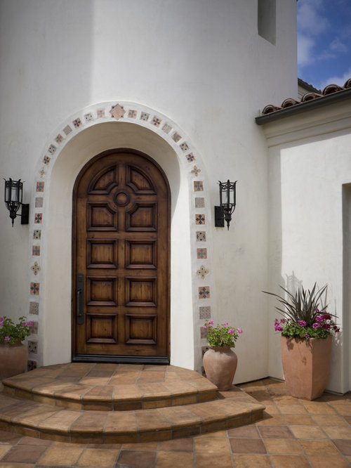 Mediterranean front door design ideas renovations photos for Door design houzz
