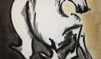 Horse Painting - Black and Gold Elegant - Equestrian Chic Product Line