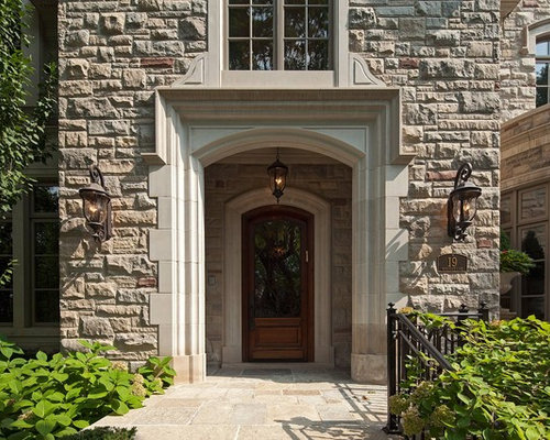 Recessed front door houzz for Door design houzz
