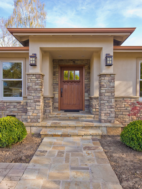 Craftsman front door home design ideas pictures remodel for Front entrance home designs