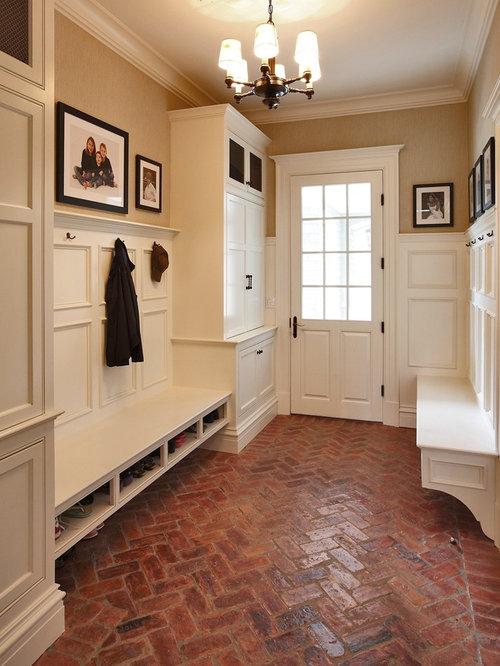Brick floor tile design ideas remodel pictures houzz for Mudroom flooring