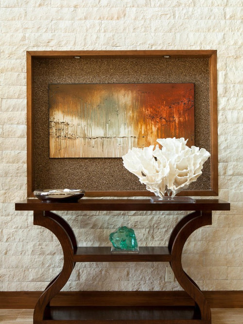 Contemporary entry table houzz for Entry wall table