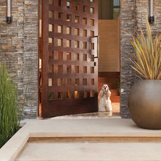 rustic entry by Michael Fullen Design Group