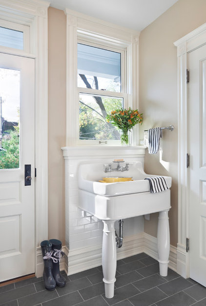 traditional powder room by Tom Stringer Design Partners