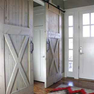 Whitewashed Barn Door Houzz