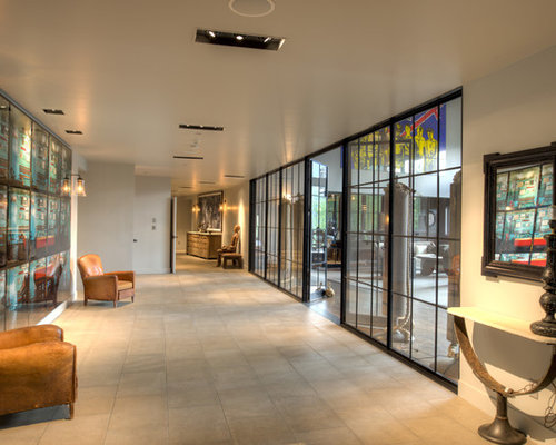 Buttress Wall Design Example : This is an example of an industrial foyer in Denver with a glass front ...