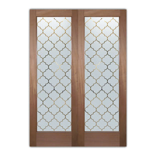 Interior Glass Doors - Obscure Frosted Glass OGEE PS PAIR