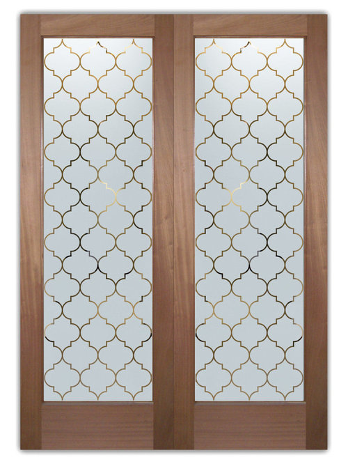 Interior glass door houzz for Door pattern design