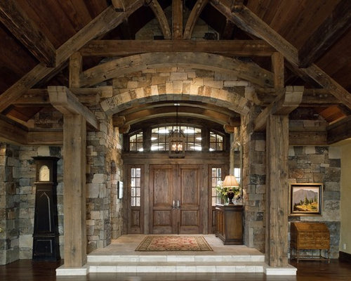 Rustic Entry Foyer : Rustic foyer design ideas renovations photos