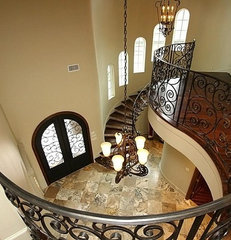 contemporary entry by Gabay Custom Builders, INC