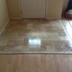 Indianapolis Travertine Floor Entry Design Ideas Pictures