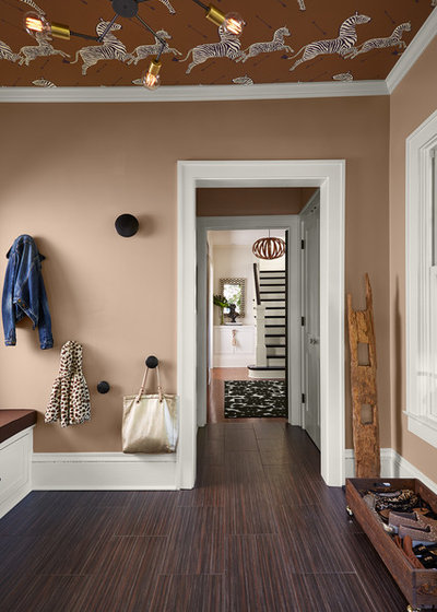 Transitional Entrance by Dezaar Interiors