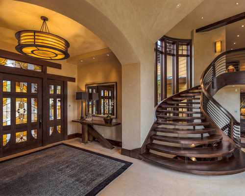Dark Wood Stairs Home Design Ideas Pictures Remodel And Decor