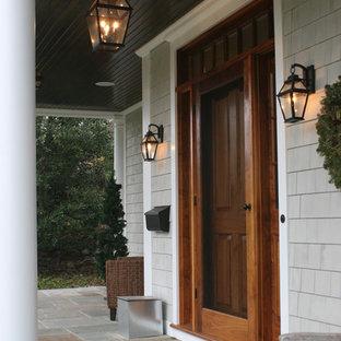 Inspiration för en vintage ingång och ytterdörr, med en enkeldörr