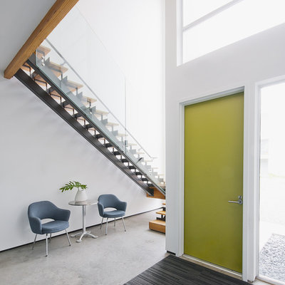 Modern Entry by Intexure Architects