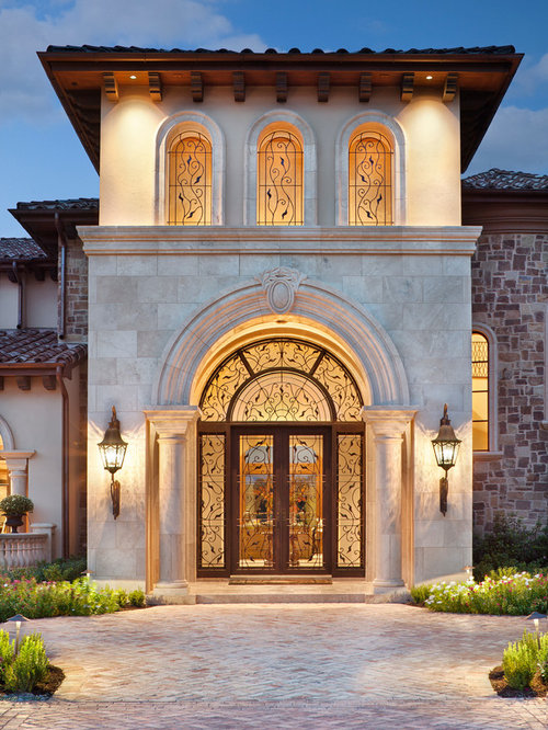 Mediterranean front door design ideas remodels photos for Mediterranean style entry doors