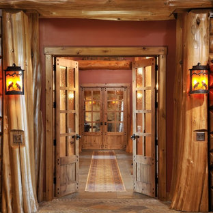 Mountain style entry hall photo in Boise