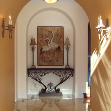 Mediterranean Entry by Janzel Kelly Interiors A.S.I.D.