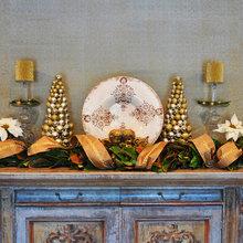 No Mantel for holiday decorations? No Problem