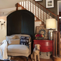 eclectic entry by Kelley Price Interiors