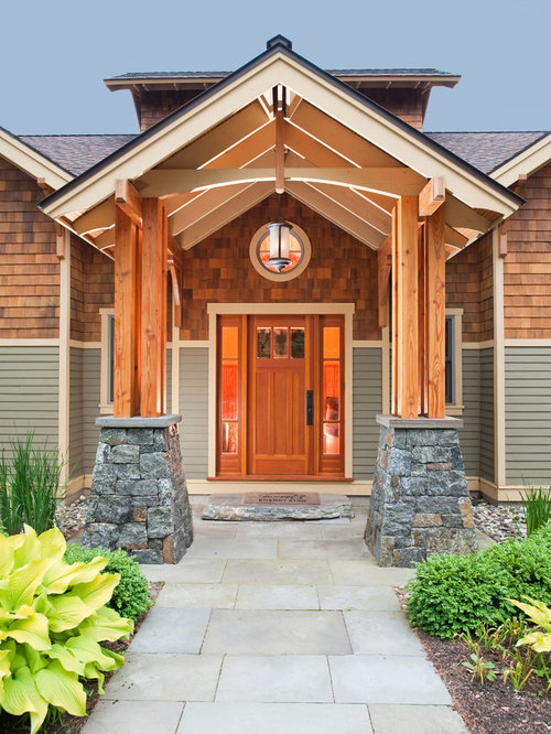Small Craftsman Front Door Awning Home Design Ideas