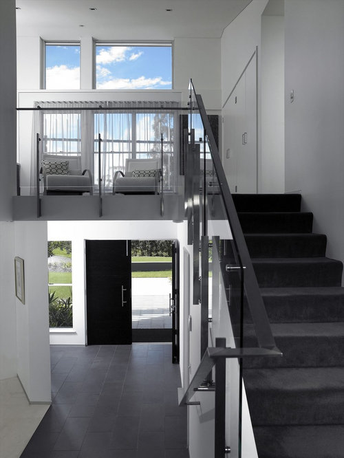 Gray Carpet Stairs Houzz
