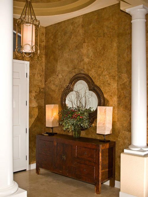 Travertine Foyer Design : Transitional foyer design ideas remodels photos with
