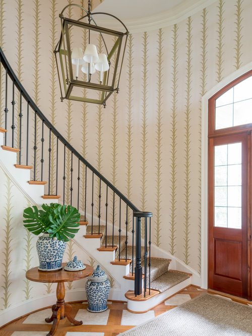 Entryway design ideas remodels photos with a double for Luxe decor llp