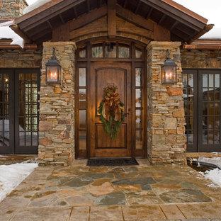 Mountain style single front door photo in Salt Lake City