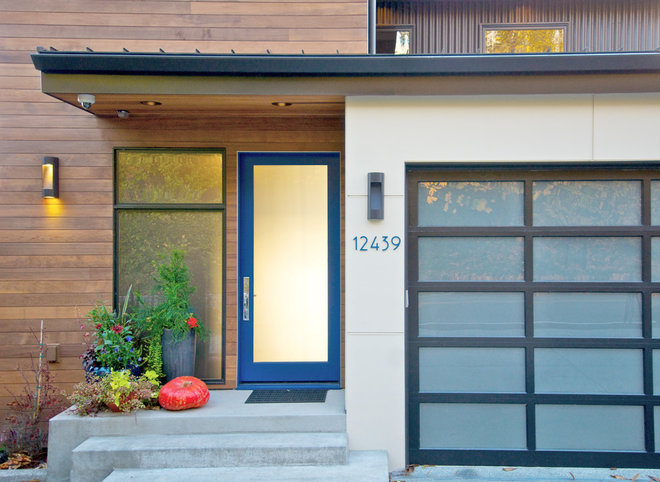 Contemporary Entry by Verge Architecture & Design, LLC