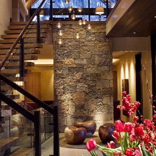 Large trendy foyer photo in Denver