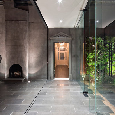 Inspiration for a contemporary entryway remodel in Melbourne