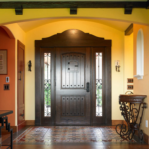 Gel stained pella entry doors home design ideas pictures for Round door design