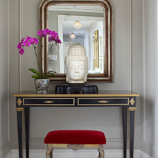 Eclectic Entry by kim scodro interiors