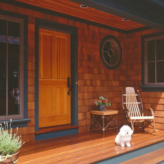 traditional entry by Timberpeg Timber Frame