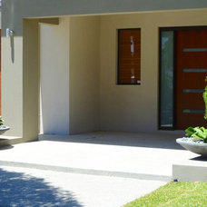 Modern Entry by sustainable garden design perth