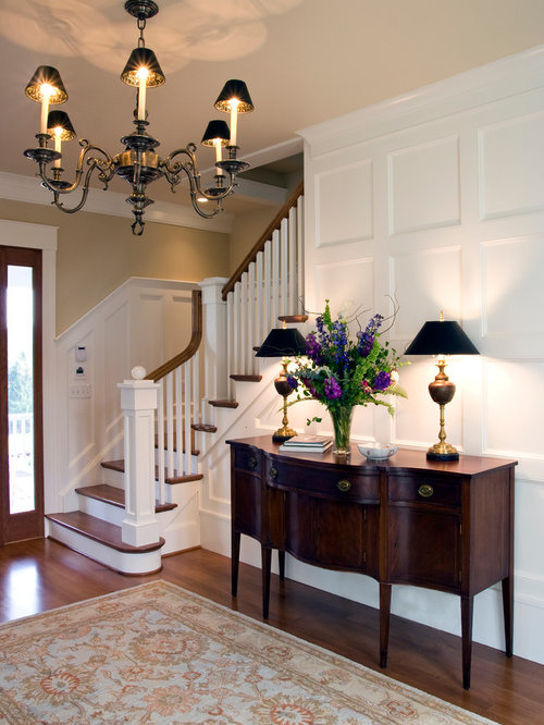 Foyer stairs entry home design ideas pictures remodel for Traditional foyer decorating ideas