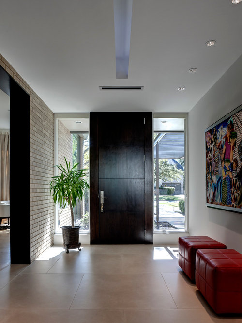 Contemporary Home Foyers : Large front door houzz