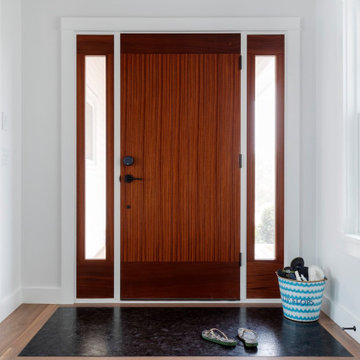 Leathered Antique Brown Granite Front Door Entry