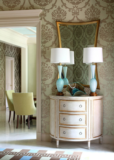 Transitional Entry by Tobi Fairley Interior Design