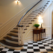 Traditional Staircase by Nicole von Meier Design